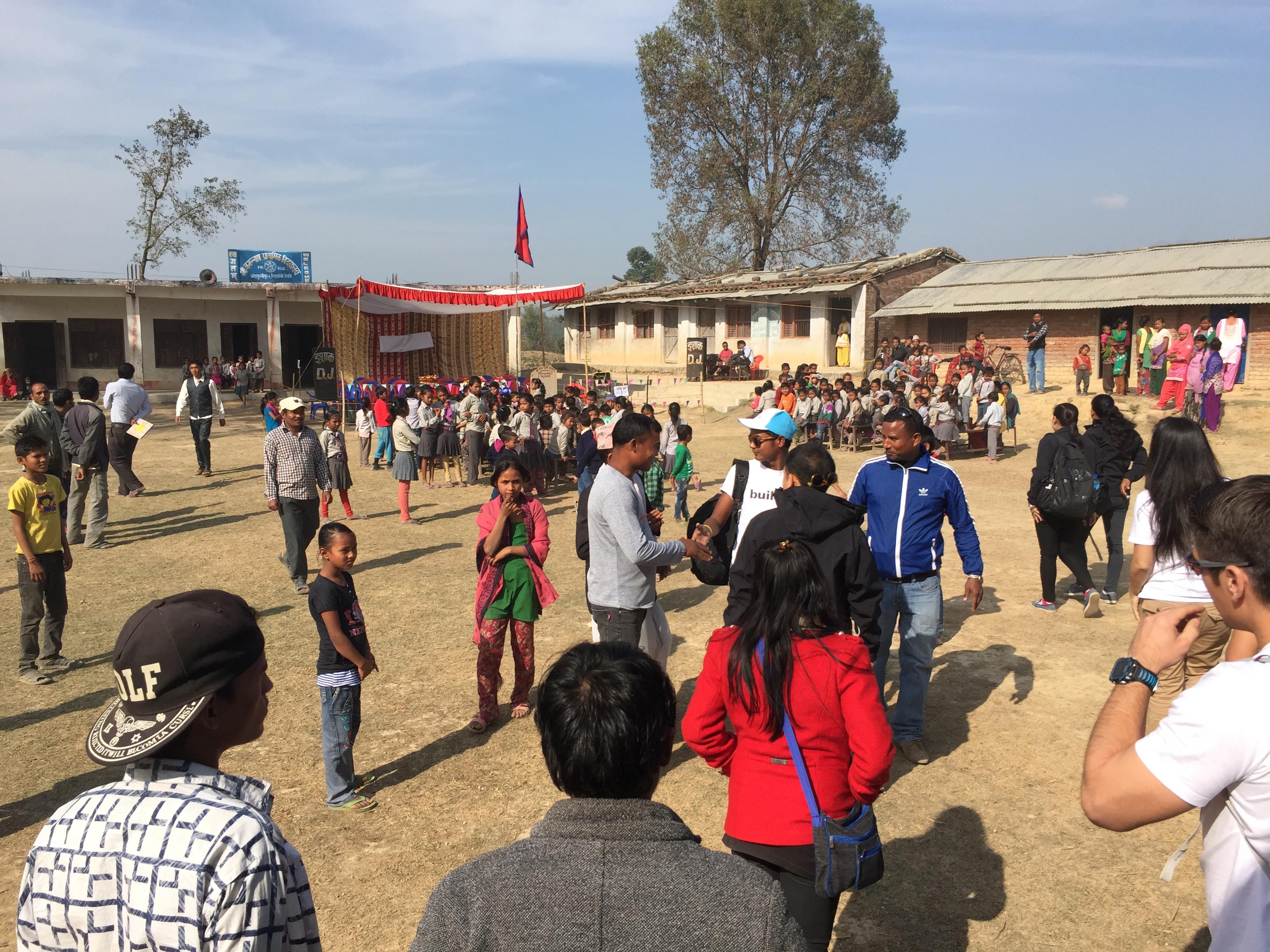 Arriving in the village of Nimuwaboji, Nepal