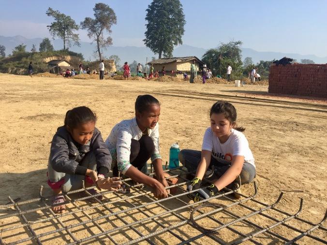 ella-working-with-village-girls